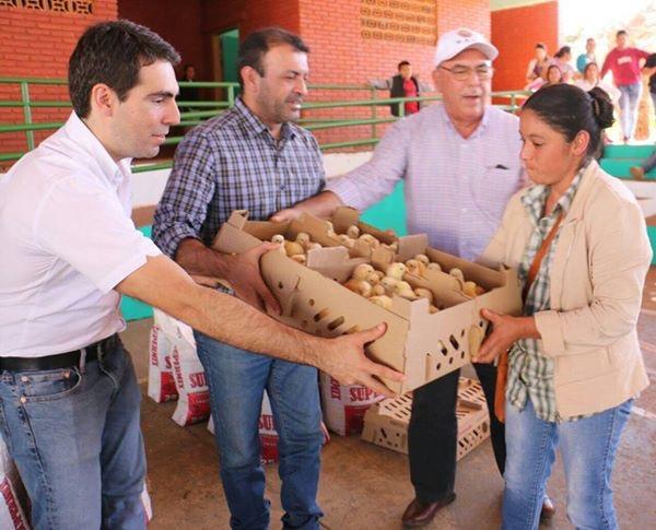 Entregan 8500 pollitos en Caaguazú a 25 comités