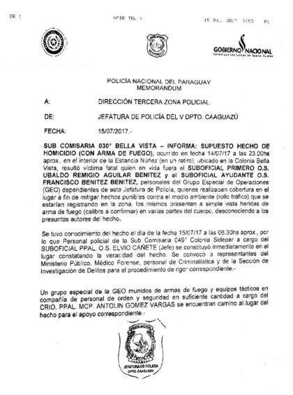 Esto ocurrió en el Departamento de Caaguazú | Desde Caaguazú