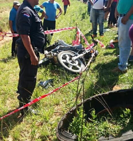 Motociclista fallece tras un choque en Yhu - Caaguazú