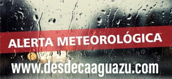 Alerta meteorológica para ocho departamentos