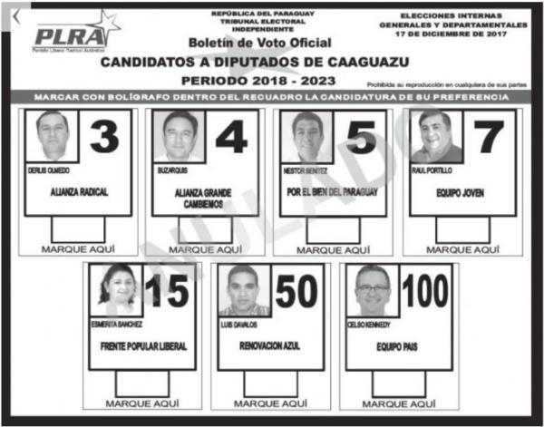 Precandidatos a diputados del PLRA: hay imputados y condenados