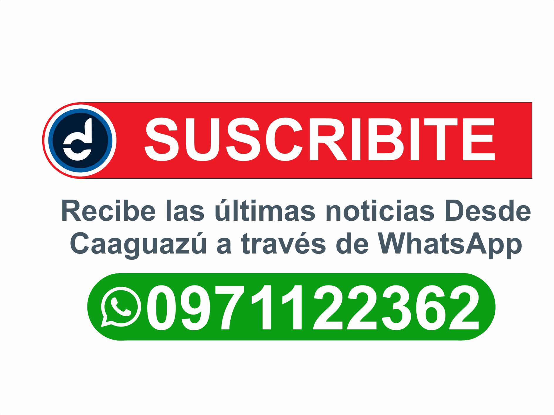 Recibe las últimas noticias Desde Caaguazú a través de WhatsApp