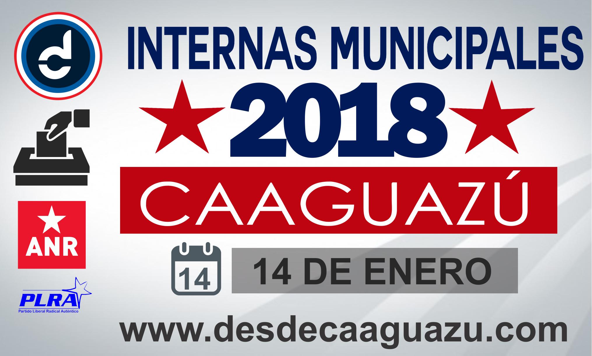 Alistan internas municipales para este domingo en Caaguazú